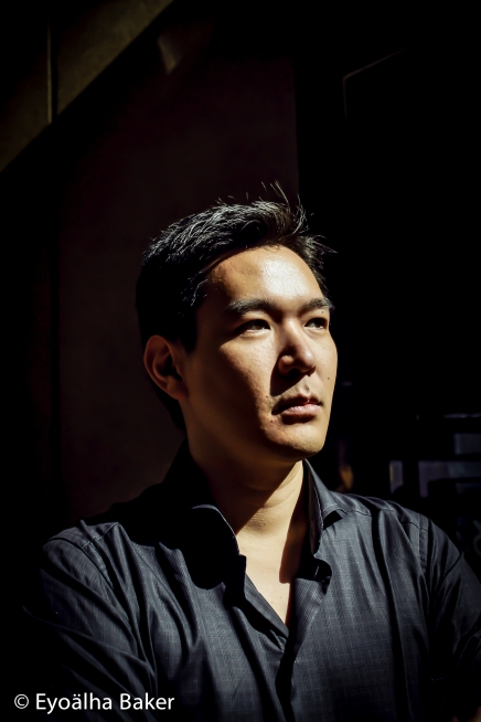 Portrait. John Wang photographed by Eyoalha Baker